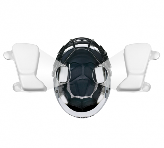 "Riddell Speed Icon Inflatable S-Pad Bianco - Dimensioni - Spessore: 1-1/4"" - 3,17 cm"