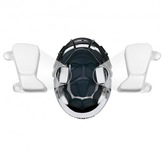 "Riddell Speed Inflatable S-Pad 3/4"" White - Side: Left Ear"