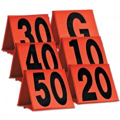 Weighted Football Sideline Yard Markers Orange